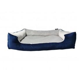 DOGIDIGI atviras gultas šunims - dygsniuota pilka/mėlyna