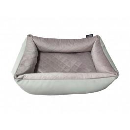 DOGIDIGI uždaras gultas šunims - dygsniuotas - rausvas