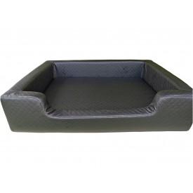 Filipek Eko oda, dygsniuotas gultas šunims - juodas