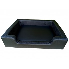 Filipek Eko oda, dygsniuotas gultas šunims - juodas, soft