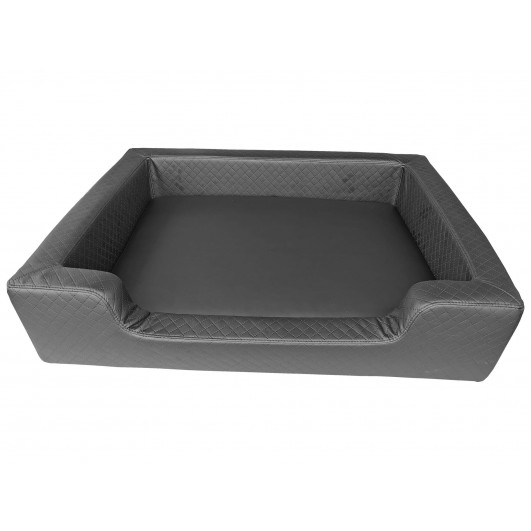 Filipek Eko oda, dygsniuotas gultas šunims - pilkas, soft