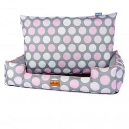 Halka Life Boo gultas šunims - rožiniai taškai