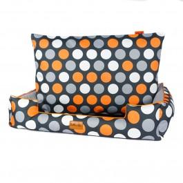 Halka Life Boo gultas šunims - oranžiniai taškai