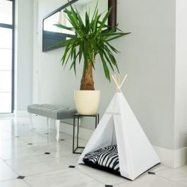 Glamour Teepee namelis-palapinė – Zebra, balta