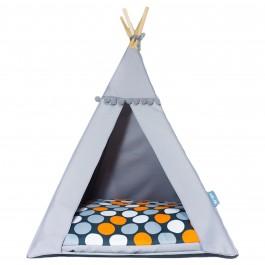 Teepee namelis-palapinė – Orange Dots