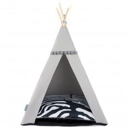 Teepee namelis-palapinė – Zebra - pilka arba rusvai gelsva