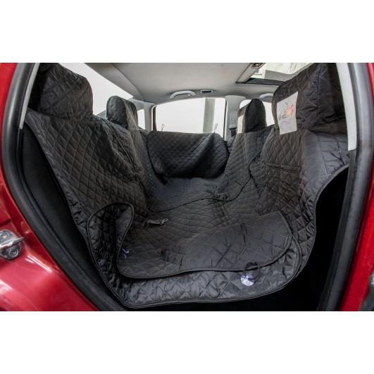 Automobilio sėdynių užtiesalas šunims (juodas) - pilnas komplektas