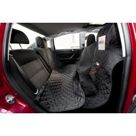 Automobilio sėdynių užtiesalas šunims (juodas) - su Velcro