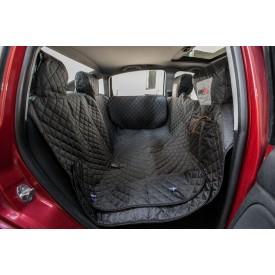 Automobilio sėdynių užtiesalas šunims (juodas) - su šonais