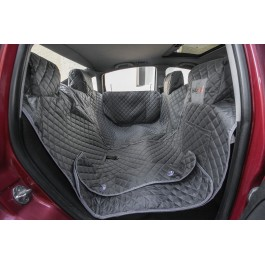 Automobilio sėdynių užtiesalas šunims (pilkas) - pilnas komplektas
