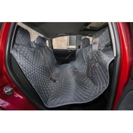 Automobilio sėdynių užtiesalas šunims (pilkas) - su Velcro