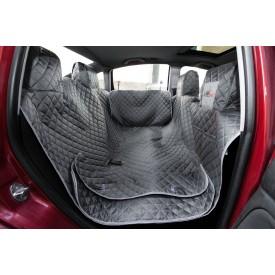 Automobilio sėdynių užtiesalas šunims (pilkas) - su šonais