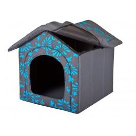 Būdelė šunims su mėlynom gėlėm - XXXL - [IŠPARDAVIMAS]
