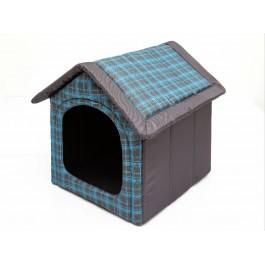 Būdelė šunims šviesiai mėlyna, languota