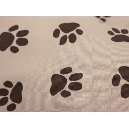 Čiužinys šunims Eco Prestige - rausvai gelsvas su pėdutėmis