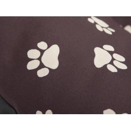 Čiužinys šunims Eco Prestige - tamsiai rudas su pėdutėmis
