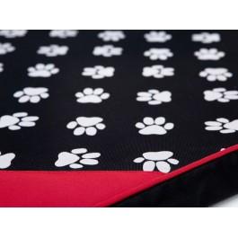 Light čiužinys šunims juodas su pėdutėmis