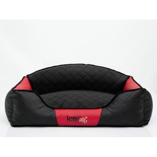 Hobby Dog Elite guolis šunims juodas su raudonais šonais (eco oda) Premium, Elite guoliai šunims