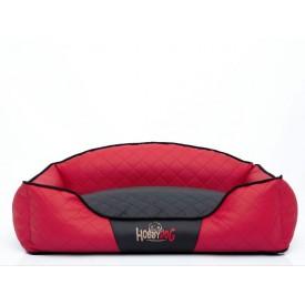 Hobby Dog Elite guolis šunims raudonas su juodu vidumi (eco oda)