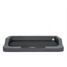 Medico lux guolis šunims grafitinis su juodu čiužiniu (eco oda)