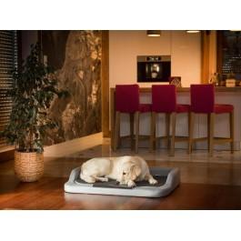 Medico standard guolis šunims pilkas su juodu čiužiniu