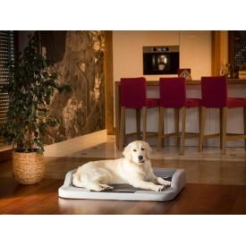 Medico standard guolis šunims - pilkas su juodu čiužiniu - Ekolen audinys