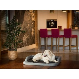 Medico standard guolis šunims - tamsiai pilkas su juodu čiužiniu - Ekolen audinys