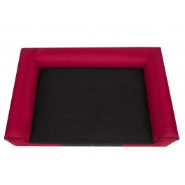 Hobby Dog Victoria Exclusive gultas šunims raudonas su juodu čiužiniu