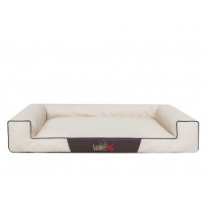 Hobby Dog Victoria Lux gultas šunims - rusvai gelsva spalva, eco oda