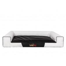 Hobby Dog Victoria Lux gultas šunims - balta spalva, eco oda