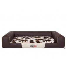 Hobby Dog Victoria Lux gultas šunims - ruda spava su kailio čiužinuku