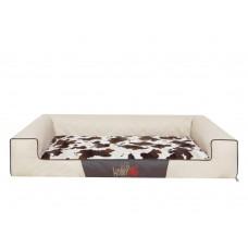 Hobby Dog Victoria Lux gultas šunims - rusvai gelsva spava su kailio čiužinuku