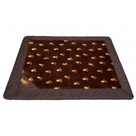 Exclusive kilimėlis šunims rudas su pėdutėmis