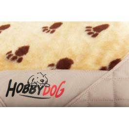 Exclusive kilimėlis šunims rusvai gelsvas su pėdutėmis