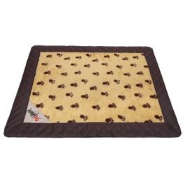 Exclusive kilimėlis šunims rusvai gelsvas su pėdutėmis (juodi šonai)
