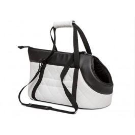 Kelioninis krepšys šunims baltas (eco oda)