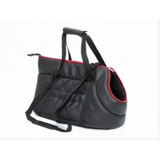 Kelioninis krepšys šunims juodas (eco oda)