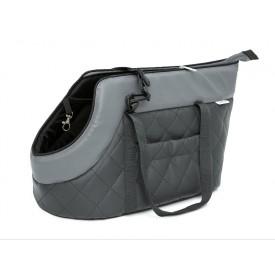 Kelioninis krepšys šunims pilkas (eco oda)