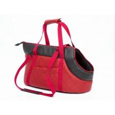 Kelioninis krepšys šunims raudonas (eco oda)