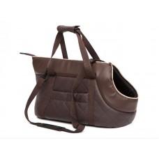 Kelioninis krepšys šunims rudas (eco oda)