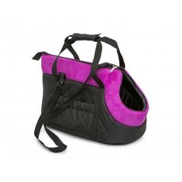 Kelioninis krepšys šunims (juodas su rožiniu viršumi)