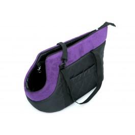 Kelioninis krepšys šunims (juodas su violetiniu viršumi)