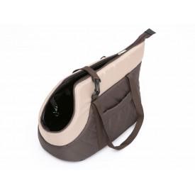 Kelioninis krepšys šunims (rudas) - dydis R1 (mažas) - [IŠPARDAVIMAS]
