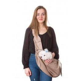 Kelioninis krepšys šunims Juliette, smėlio spalva