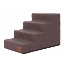 Laiptai šunims - Inari - ruda spalva [L dydis, 4 pakopos]
