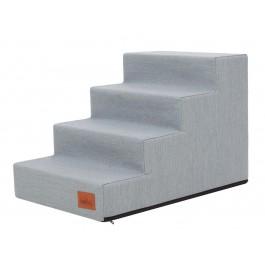 Laiptai šunims - Inari - melsvai pilka spalva [L dydis, 4 pakopos]