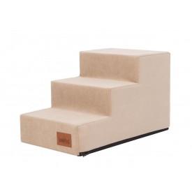 Laiptai šunims - Savoy - smėlio spalva [M dydis, 3 pakopos] - AKCIJA