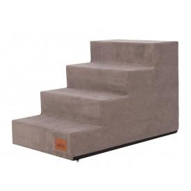 Laiptai šunims - Savoy - kapučino spalva [L dydis, 4 pakopos]