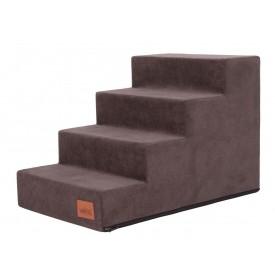 Laiptai šunims - Savoy - ruda spalva [L dydis, 4 pakopos]