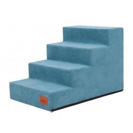 Laiptai šunims - Savoy - turkio spalva [L dydis, 4 pakopos]